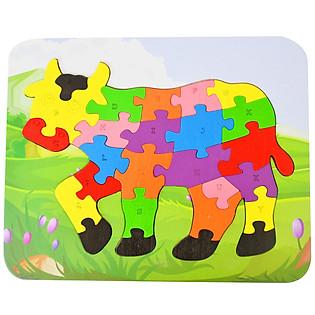 Ghép Hình Puzzle Tottosi - Bò Sữa 303015 (26 Mảnh Ghép)