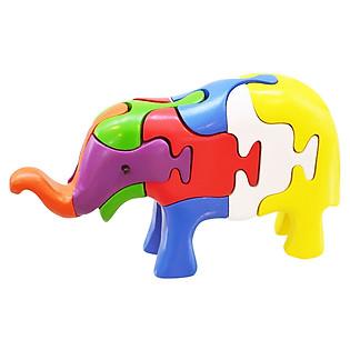 Lắp Ráp Mô Hình Puzzle Tottosi 3D - Voi Cong 304013 (7 Mảnh Ghép)