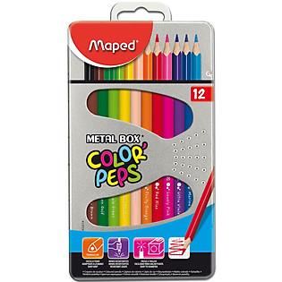 Bút Chì Màu Maped Hộp Thiếc – 12 Màu