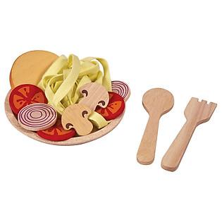 Bộ Bữa Ăn Với Mì Spaghetti Bằng Gỗ Plan Toys - PL3466