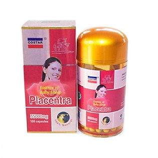 Thực Phẩm Chức Năng Viên Uống Nhau Thai Cừu Costar Sheep Placenta 35000Mg (Hộp 100 Viên)