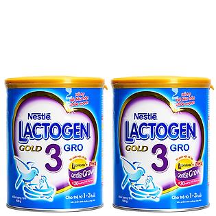 Combo 2 Lon Sữa Nestle Lactogen Gold 3 (900G)