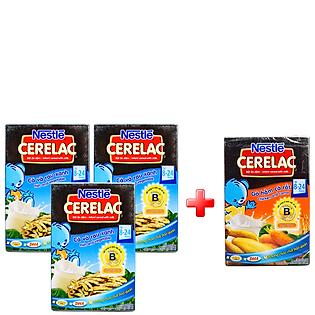 Combo 3 Bột Ăn Dặm Nestle Cerelac - Cá Và Rau Xanh (200G)