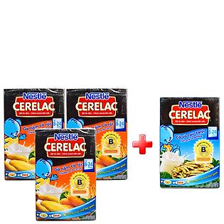 Combo 3 Hộp Bột Ăn Dặm Nestle Cerelac - Gà Hầm Cà Rốt (200G)