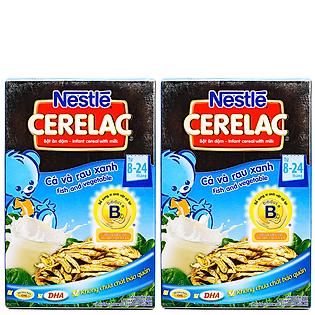 Combo 2 Hộp Bột Ăn Dặm Nestle Cerelac - Cá Và Rau Xanh (200G)