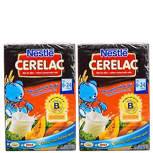 Combo 2 Hộp Bột Ăn Dặm Nestle Cerelac - Rau Xanh Và Bí Đỏ (200G)