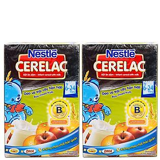 Combo 2 Hộp Bột Ăn Dặm Nestle Cerelac - Gạo Và Trái Cây (200G)
