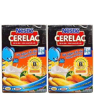 Combo 2 Hộp Bột Ăn Dặm Nestle Cerelac - Gà Hầm Cà Rốt (200G)