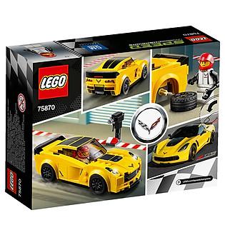 Mô Hình LEGO Speed Champions - Xe Đua Chevrolet Corvette Z06 75870 (173 Mảnh Ghép)