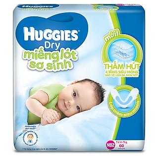 Tấm Lót Sơ Sinh Huggies Newborn NB2 (60 Miếng)