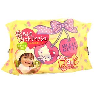 Giấy Ướt LEC Hello Kitty E-045 (80 Tờ X 3 Gói)