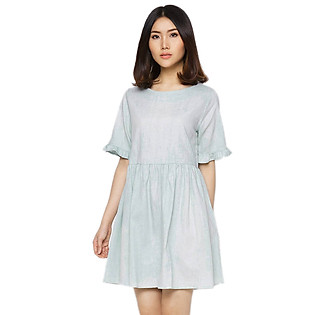 Đầm Baby Doll Labelle D196 - Xanh Nhạt (Free Size)
