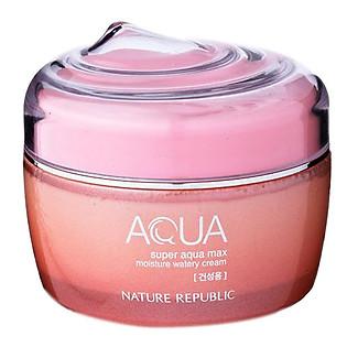 Kem Dưỡng Cho Da Khô Nature Republic Super Aqua Max Moisture Watery Cream (80Ml)