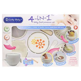Bộ Chế Biến Thức Ăn Cho Bé 4 Trong 1 Lucky Baby 521168