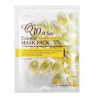 Mặt Nạ Dưỡng Da Chống Lão Hóa Q10 Ottie Coenzyme Q10 White Essence Mask Pack - 5503 (Miếng 21G)