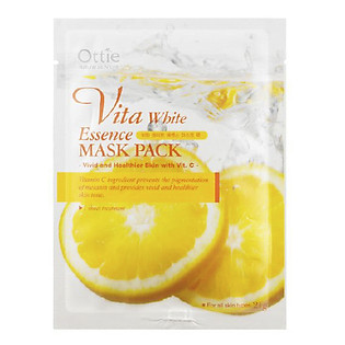 Mặt Nạ Cung Cấp Vitamin Dưỡng Trắng Da Ottie Vitamin White Essence Mask Pack - 5504 (Miếng 21G)