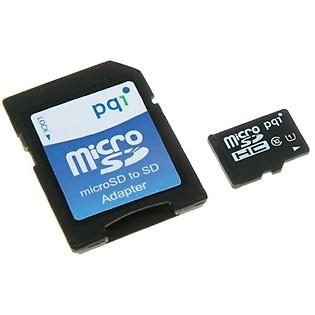 Thẻ Nhớ Micro UHS1 PQI 16GB Class 10 (Kèm Adapter)