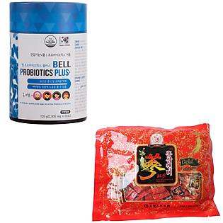 Combo Thực Phẩm Chức Năng  Bell Probiotics Plus + 1 Kẹo Sâm Chong Kun Dang