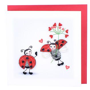 Thiệp Giấy Xoắn Việt Net - Love Valentine - Happy Valentine