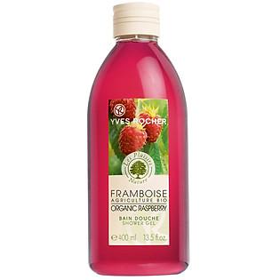 Gel Tắm Mâm Xôi Đỏ Yves Rocher Organic Raspberry Shower Gel (400Ml) - Y101024