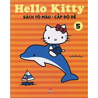 Hello Kitty - Sách Tô Màu Cấp Độ Dễ (Tập 5)