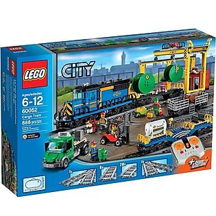 Mô Hình LEGO City Xe Lửa Vận Tải (888 Mảnh Ghép) - 60052