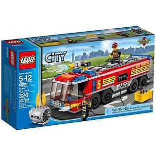 Mô Hình LEGO City Xe Cứu Hỏa Sân Bay (326 Mảnh Ghép) - 60061