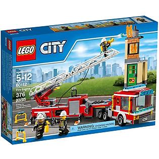 Mô Hình LEGO City Fire – Đầu Máy Cứu Hỏa 60112 (376 Mảnh Ghép)
