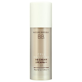 Kem Nền Trang Điểm Nature Republic Cell Boosting Bb Cream SPF 30 Pa++ 01 Light Beige (38G)