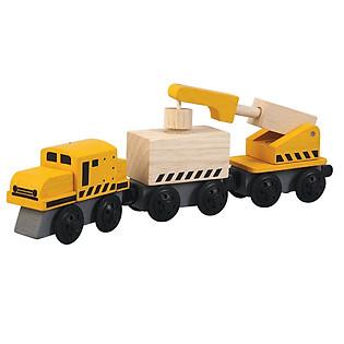 Mô Hình Plan Toys - Xe Lửa Xây Dựng PL6251