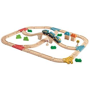 Mô Hình Plan Toys - Bộ Đường Ray Tàu Hỏa Pl6606