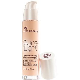 Kem Nền Rocher Flawless Pure Light Luminous Foundation Second Skin Effect