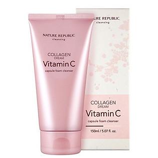 Sữa Rửa Mặt Tạo Bọt Nature Republic Collagen Dream Vitamin C Capsule Foam Cleanser (150Ml)