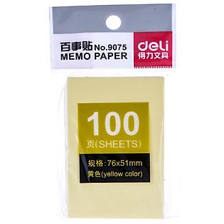 Giấy Note 76X51mm Deli 9075
