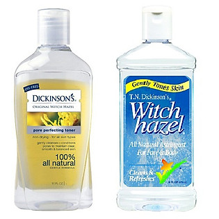 Combo 2 Nước Cân Bằng Dickinson's Yellow Label Original Witch Hazel + Witch Hazel Astringent (237Ml/Chai)