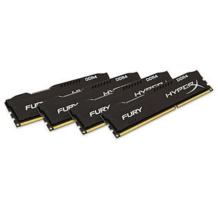 RAM Kingston 16GB 3000Mhz DDR4 CL15 DIMM (Kit Of 4) Hyperx FURY Black - HX430C15BPK2/16