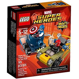 Mô Hình LEGO Super Heroes - Đội Trưởng Mỹ Đại Chiến Red S 76065 (95 Mảnh Ghép)