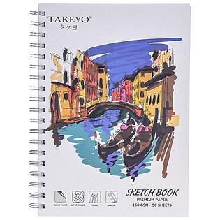 Tập Vẽ Lò Xo Takeyo B5 50 Tờ 8523