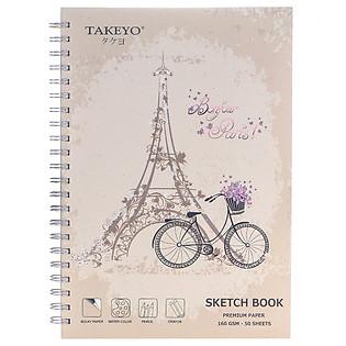 Tập Vẽ Lò Xo Takeyo A4 50 Tờ 8524