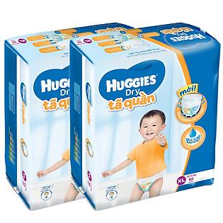 Combo 2 Tã Quần Huggies Dry Pants Gói Cực Đại Size XL (62 Miếng)
