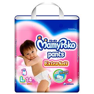Tã Quần Bé Gái Mamypoko Size L (14 Miếng)