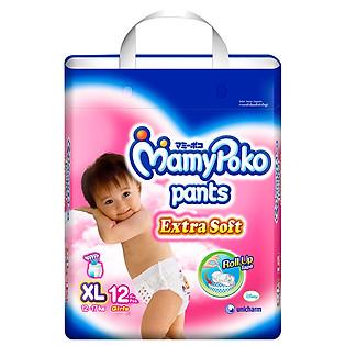 Tã Quần Bé Gái Mamypoko Size XL (12 Miếng)