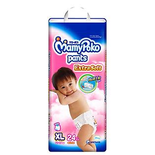 Tã Quần Bé Gái Mamypoko Size XL (24 Miếng)