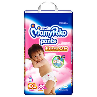 Tã Quần Bé Gái Mamypoko Super Jumbo Size XXL (38 Miếng)