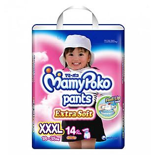 Tã Quần Bé Gái Mamypoko Size XXXL (14 Miếng)
