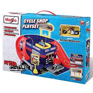 Mô Hình Xe FM 2-Wheeler Cycle Shop Maisto - MT12118