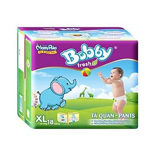 Tã Quần Bobby Pants Gói Nhỏ Size XL (18 Miếng)