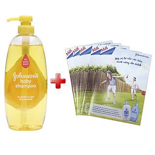 Combo Dầu Gội Đầu Em Bé Johnson'S Baby Shampoo 1900841410 (800Ml) Tặng 5 Cuốn Tập