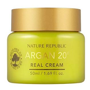 Kem Dưỡng Da Chiết Xuất Argan Nature Republic Argan 20º Real Cream (50Ml)