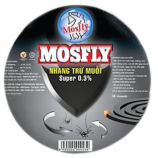 Hộp Nhang Muỗi Mosfly Super Black 36 Khoanh